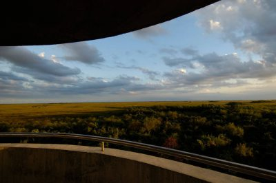 Photo: A scenic view from an observation tower in Shark Valley at the north end of Everglades National Park.