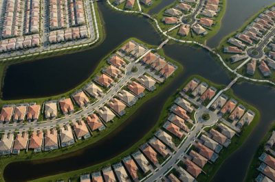 Photo: Subdivisions carved out of the marsh of what used to be the Everglades' ecosystem.