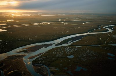 Photo: A river winds through the Arctic National Wildlife Refuge.