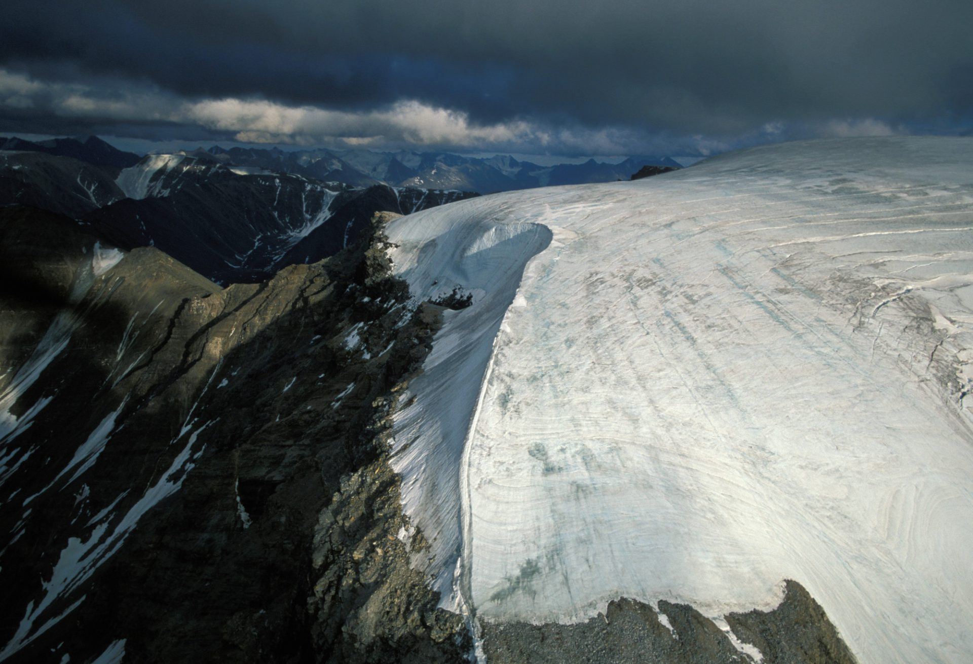 Photo: An aerial of the Brooks range in the Arctic National Wildlife Refuge.