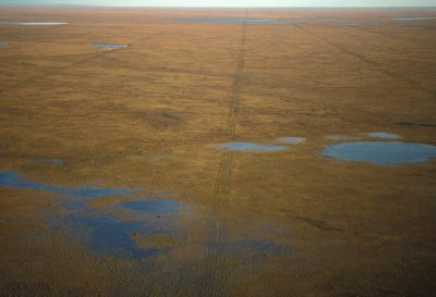 Photo: Aerial of Colville River Delta in Alaska's North Slope.