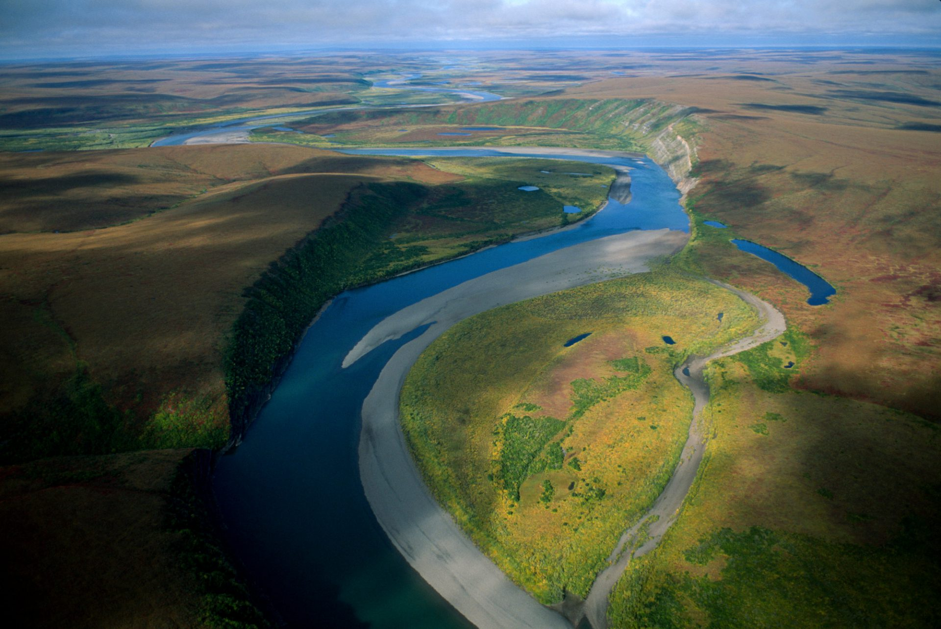 Photo: The Colville River at Killik Bend on the North Slope of Alaska.