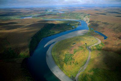 Photo: The Colville River at Killik Bend on the North Slope of Alaska.