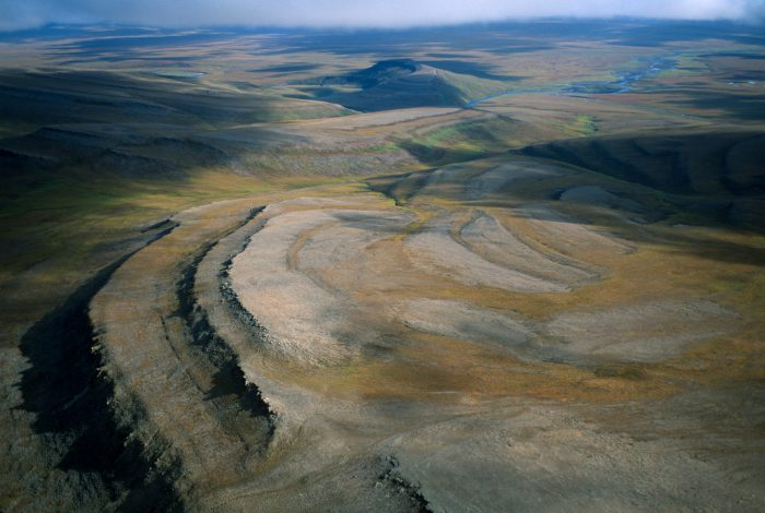 Photo: Ridges of the eastern Utukok uplands, the calving ground of the western Arctic caribou herd.
