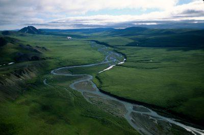 Photo: Landscape in the Lisburne Peninsula area of the North Slope of Alaska.