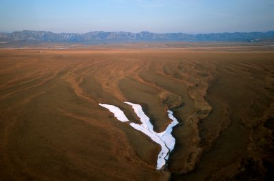 Photo: Tundra, aerial, aerial view, landscape, melt, nature, no people, nobody, scenic, show, stream