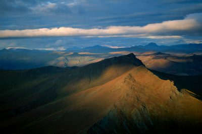 Photo: The north side of the Brooks Range, which marks the southern edge of the North Slope of Alaska.