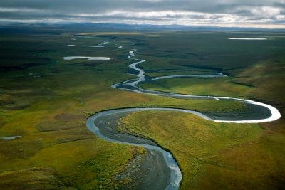 Photo: The upper Colville River and headwaters on the North Slope of Alaska.