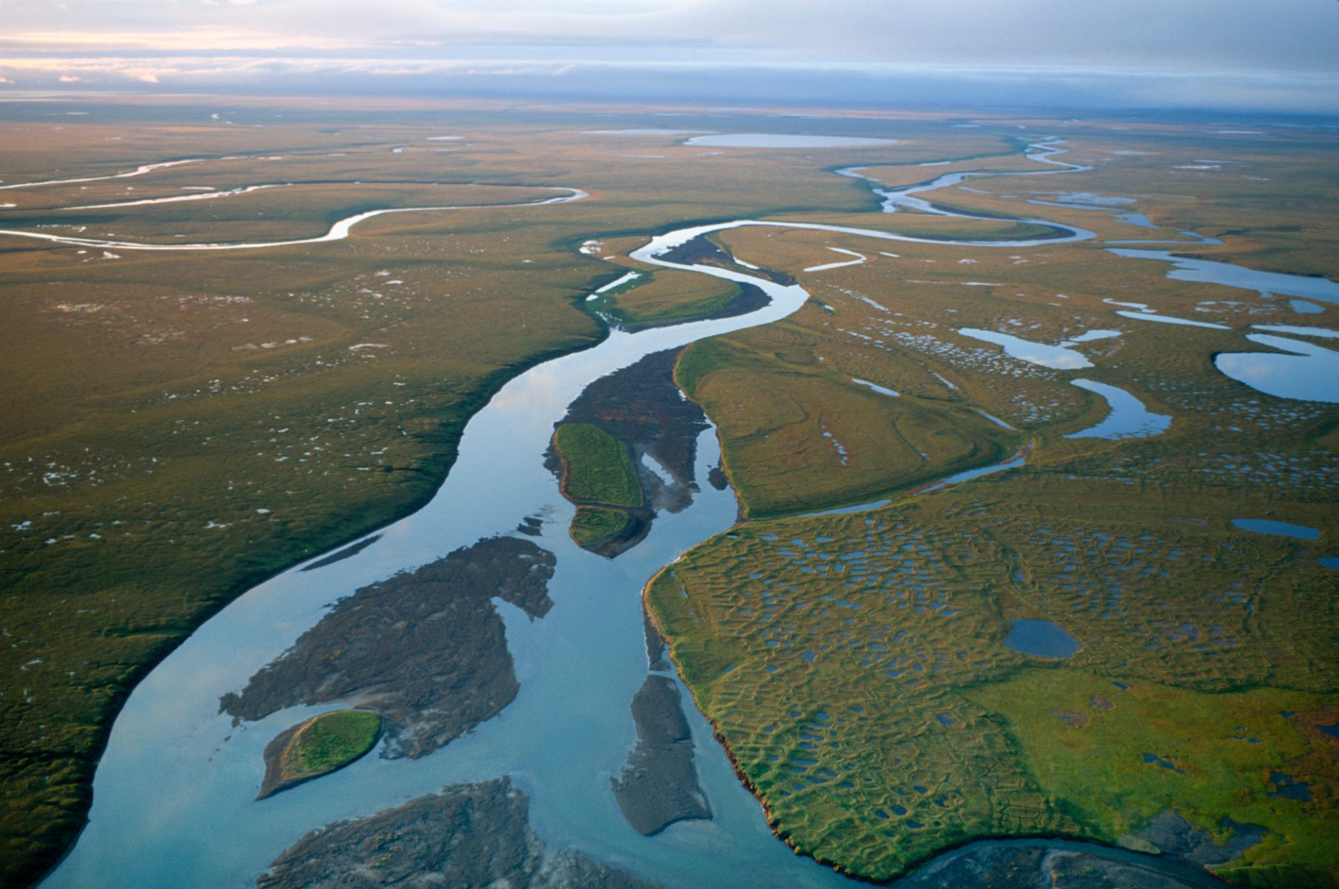 Photo: A river near Prudhoe Bay on Alaska's North Slope.