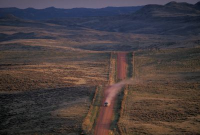 Photo: A road cuts through the countryside near Sheridan, WY. Thearea is slated for coal bed methane development.