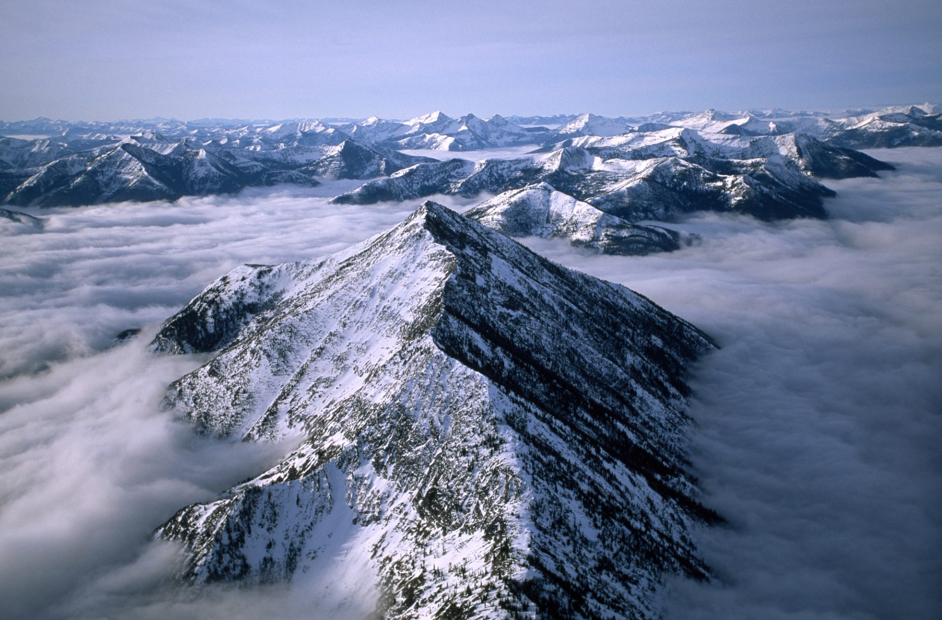 Photo: An aerial view of Montana's Rocky Mountain Front.