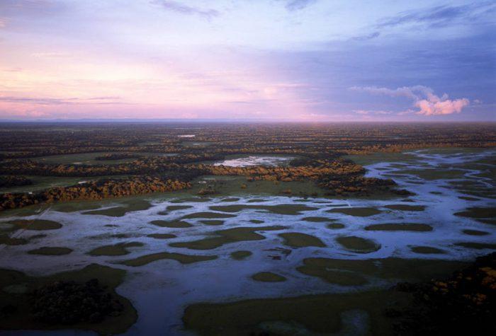 Photo: Aerial of the Brazilian Pantanal near Pousada Barra Mansa during the wet season.