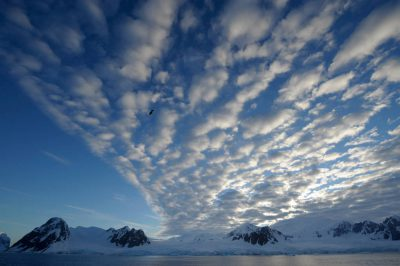 Photo: Along the Antarctic Peninsula, near the Antarctic Circle.
