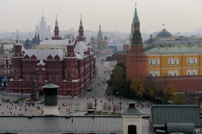 Photo: Looking out towards Red Square in downtown Moscow, Russia.