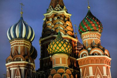 Photo: St. Basil's Church on Red Square in Moscow, Russia.
