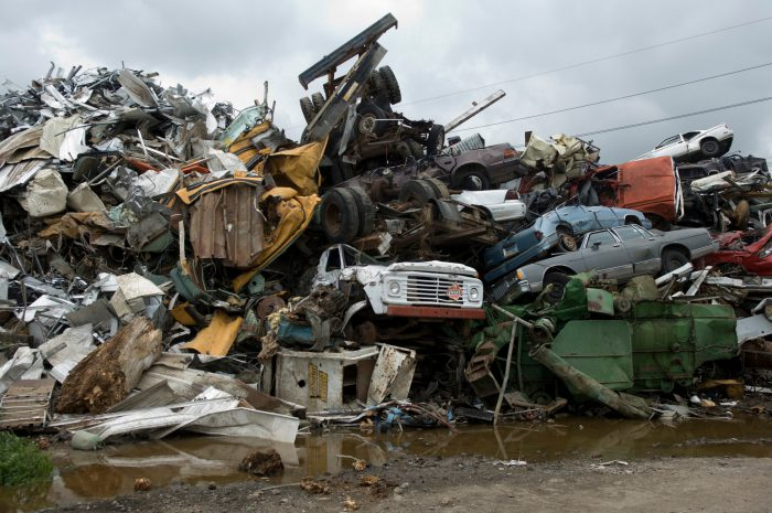 Photo: A scrap metal yard.