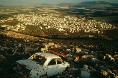 Photo: View atop a scrap yard in the Jezreel Valley, Israel.