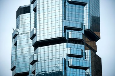 Photo: A geometric inspired building in Hong Kong, China.