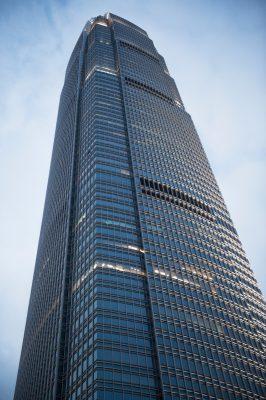 Photo: A skyscraper in Hong Kong, China.