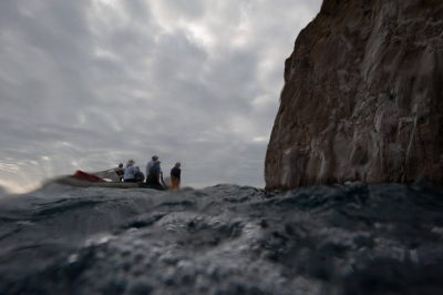 Photo: Adventurists in Galapagos National Park.
