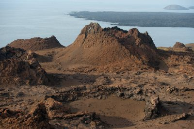 Photo: Bartholomew Island is a young island with many lava flows.
