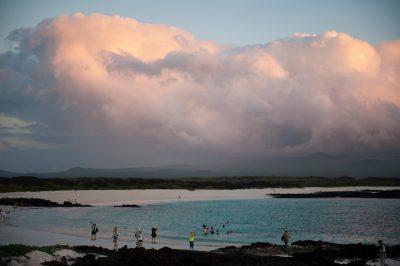 Photo: San Cristobal Island at sunset, part of the Galapagos Islands.