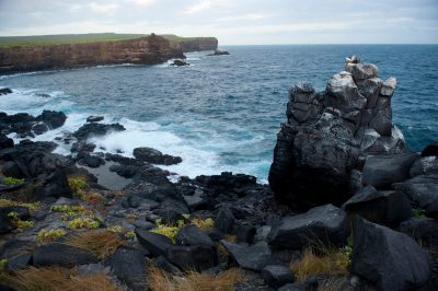 Photo: A scienic view of Espanola Island in the Galapagos.