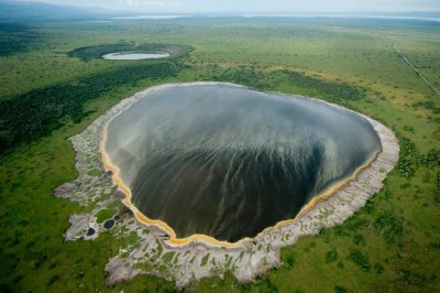 Photo: An aerial of the Explosion Craters area in Queen Elizabeth National Park, Uganda.