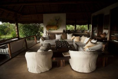 Photo: The living quarters of a safari lodge in Uganda, Africa.
