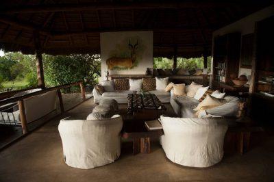 Photo: The living quarters of a safari lodge in Uganda, Africa.