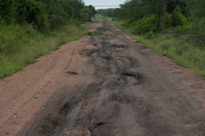Photo: A road near Queen Elizabeth National Park in Uganda, Africa.