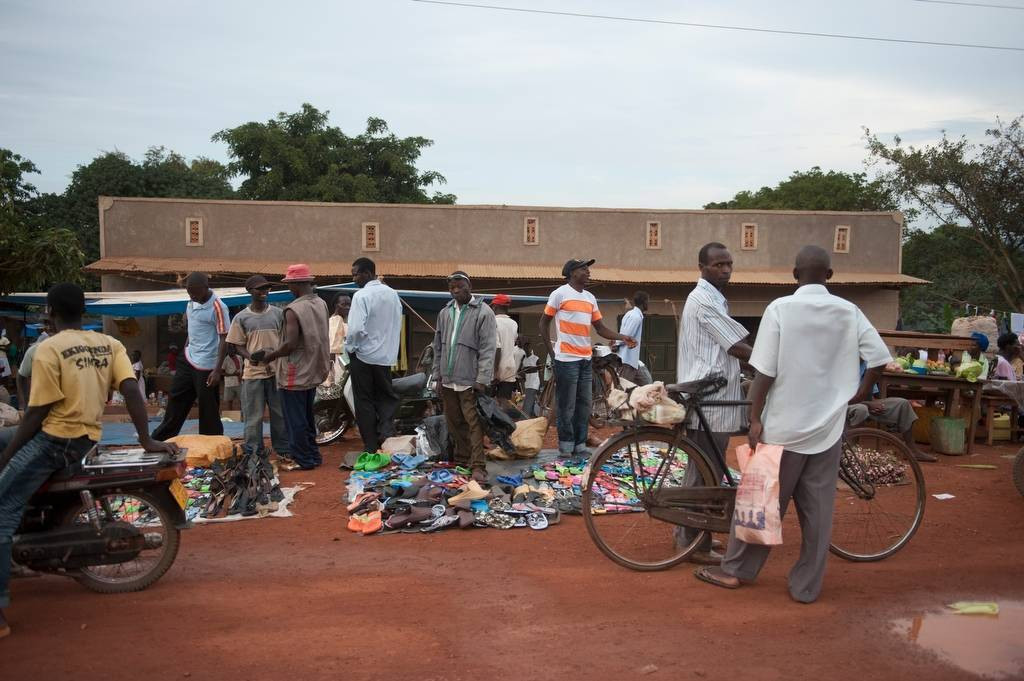 Photo: A busy market in Kampala, Uganda, Africa.