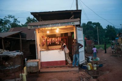 Photo: A meat stand along the road in Uganda, Africa.