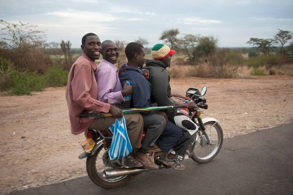 Photo: A motorcycle taxi near the town of Kasese, Uganda, Africa.
