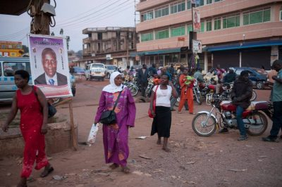 Photo: A street scene in Kampala, Uganda, Africa.