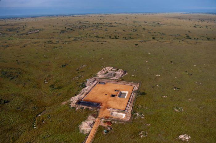Photo: Oil exploration facility inside Murchison Falls National Park.
