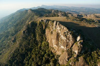 Photo: Aerials of the west side of the Mt. Gorongosa range in Mozambique, Africa.