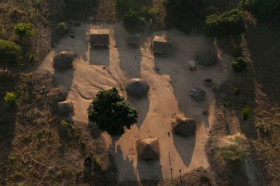 Photo: A small village within the buffer zone of Gorongosa National Park in Mozambique, Africa.