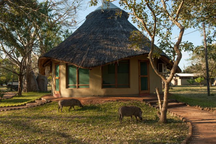 Photo: Accommodations at Chitengo Camp in Mozambique, Africa.