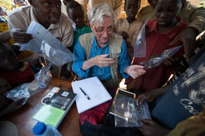 Photo: Dr. Edward O. Wilson examines the insects caught at a bioblitz in Gorongosa National Park, Mozambique, Africa.