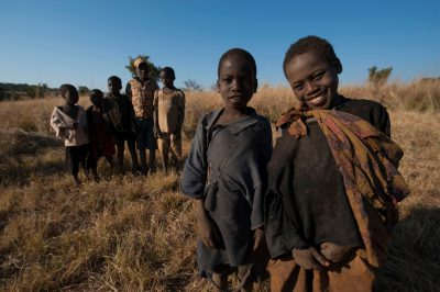 Photo: Local children in Gorongosa National Park, Mozambique, Africa.