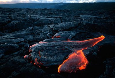 Photo: A lava flow in Hawaii.