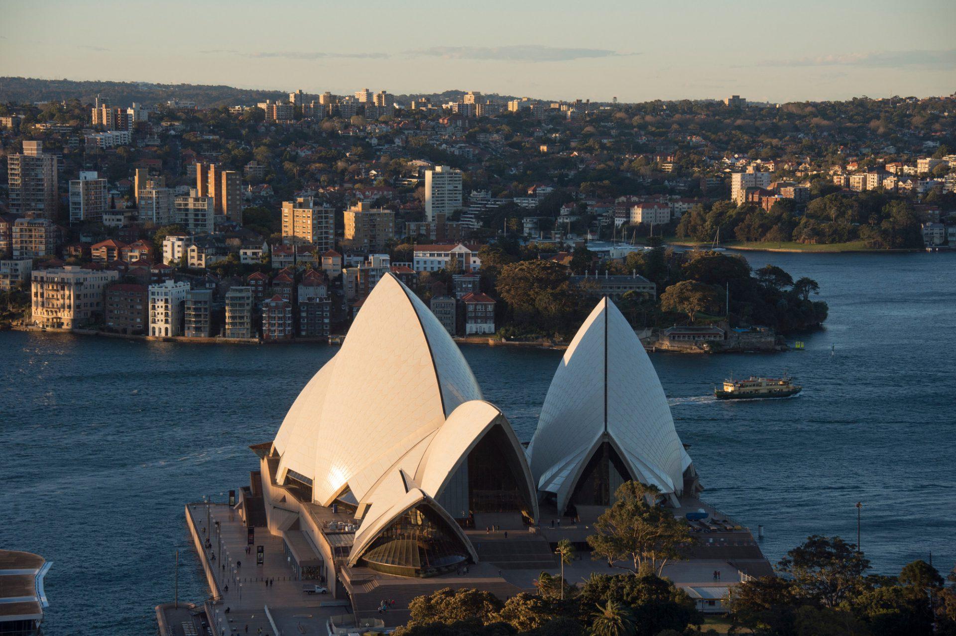 Photo: Sydney Harbor along including the Sydney Opera House.