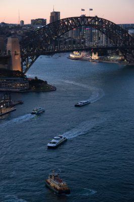 Photo: The Sydney Harbor, Australia.