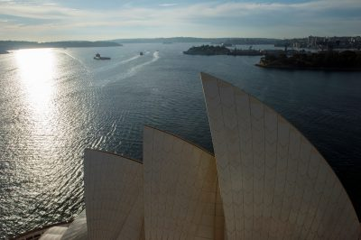 Photo: A view from the Sydney Opera House roof, Australia.