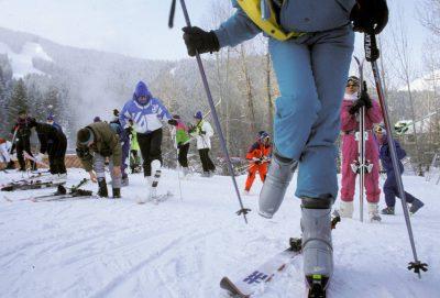 Photo: Skiers at Sun Valley, Idaho.