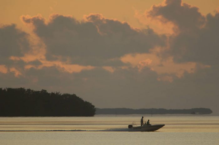 Photo: A fishing boat near Flamingo in Everglades National Park.