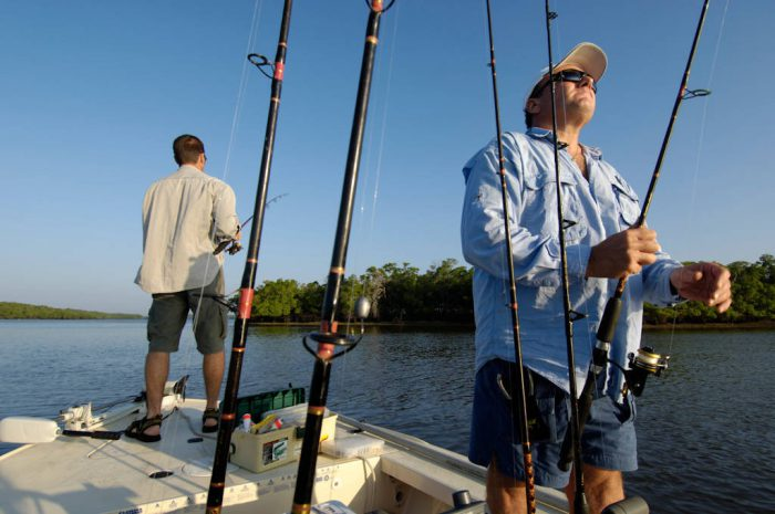 Photo: Fishermen (names available upon request) in the 10,000 Islands area of Florida's Everglades National Park, near Naples,FL.