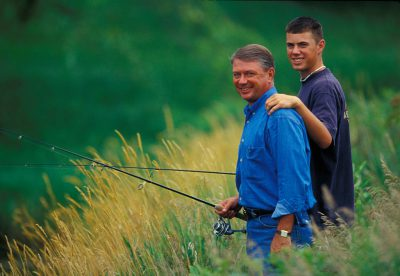 Photo: A father and son fishing in Nebraska.