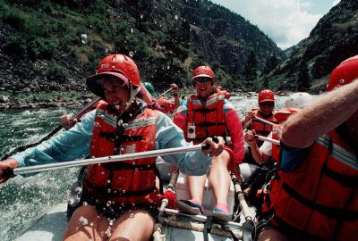 Photo: Whitewater rafting on the Salmon River in Idaho.